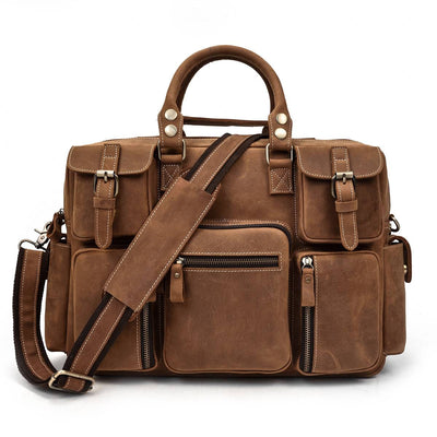 Organizer Carry-All Leather Briefcase-Grittyrustic