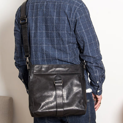 Rick Leather Messenger Bag-Grittyrustic