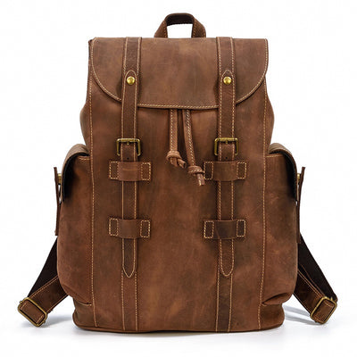 Scoutmaster Leather Backpack-Grittyrustic