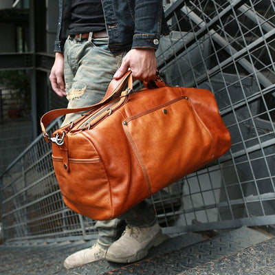SoCal High Leather Duffel Bag - Grittyrustic