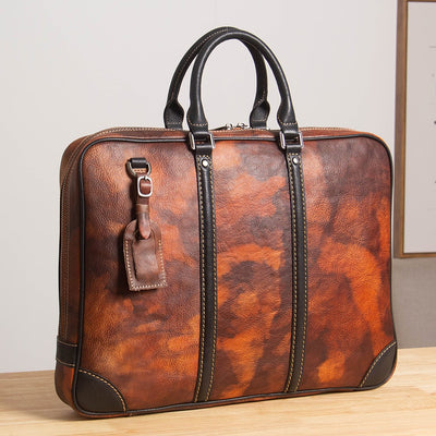 Texian Portfolio Leather Briefcase-Grittyrustic