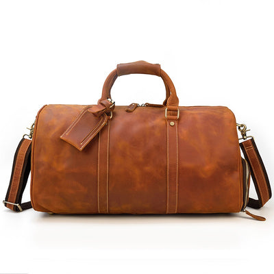 Transporter Travel Leather Duffel Bag-Grittyrustic