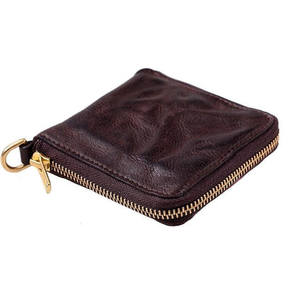 Urbanhide Zip-Around Short Leather Wallet - Grittyrustic