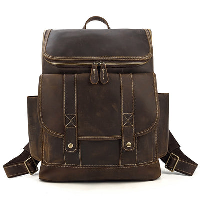 Workshop Leather Backpack-Grittyrustic