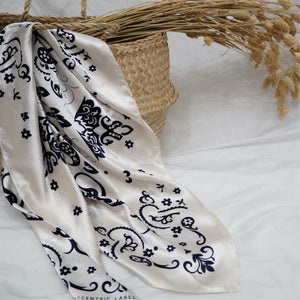 Western Scarf Ivory Multi  Lifestyle | The Eccentric Label