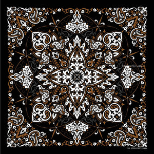 Western Scarf Black Multi | The Eccentric Label
