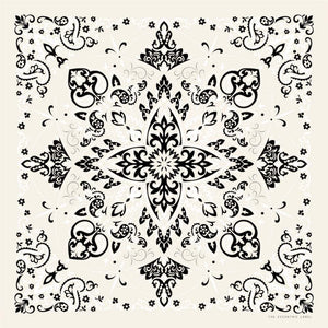 Western Scarf Ivory Multi | The Eccentric Label