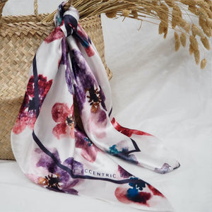 Love Floral Scarf Rose Multi | The Eccentric Label