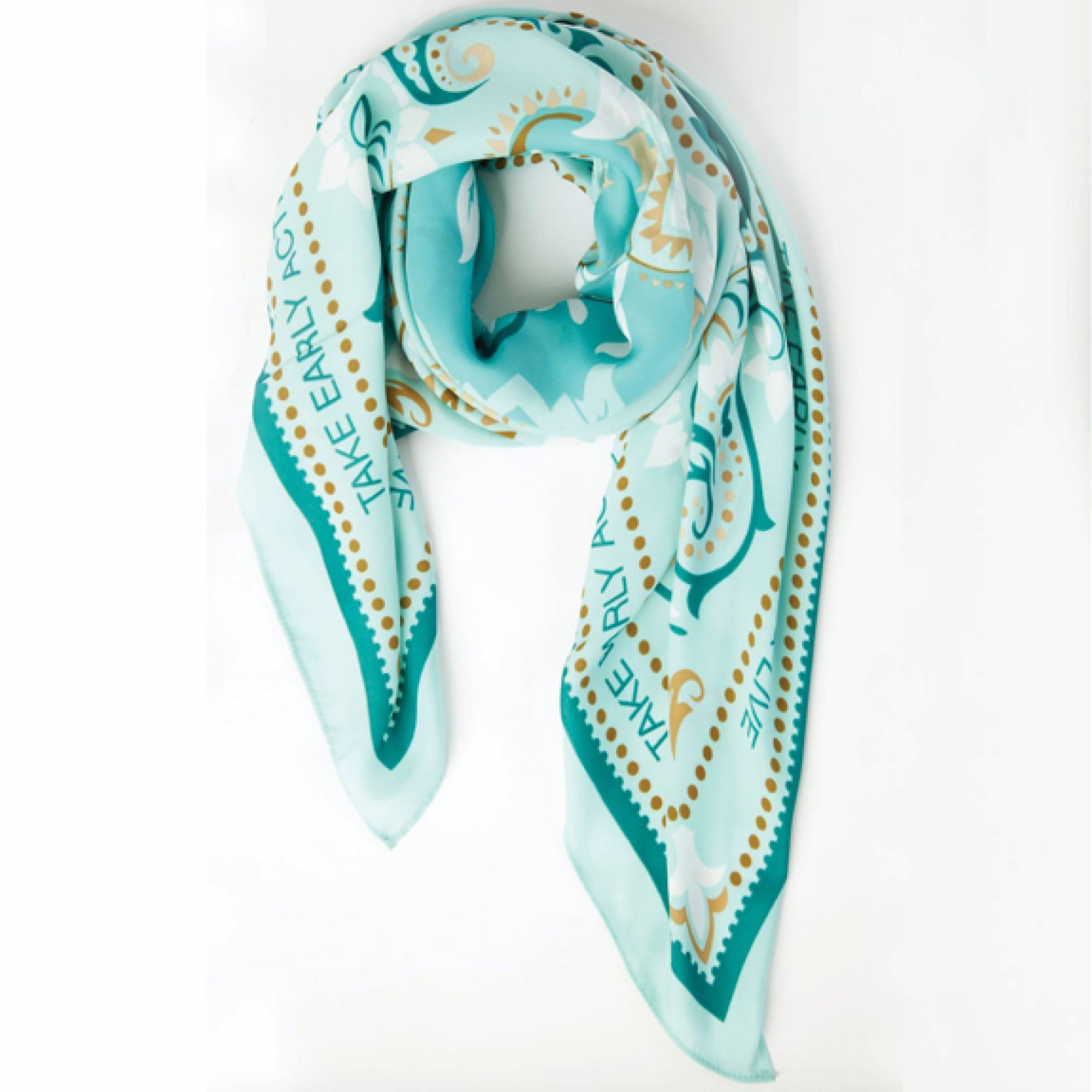 Teal Spanish Scarf - The Eccentric Label