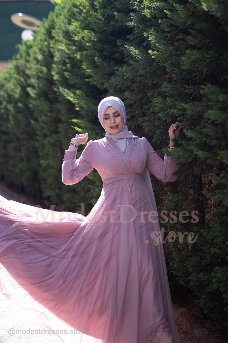 Adorable Princess Pink Modest Dress 2020