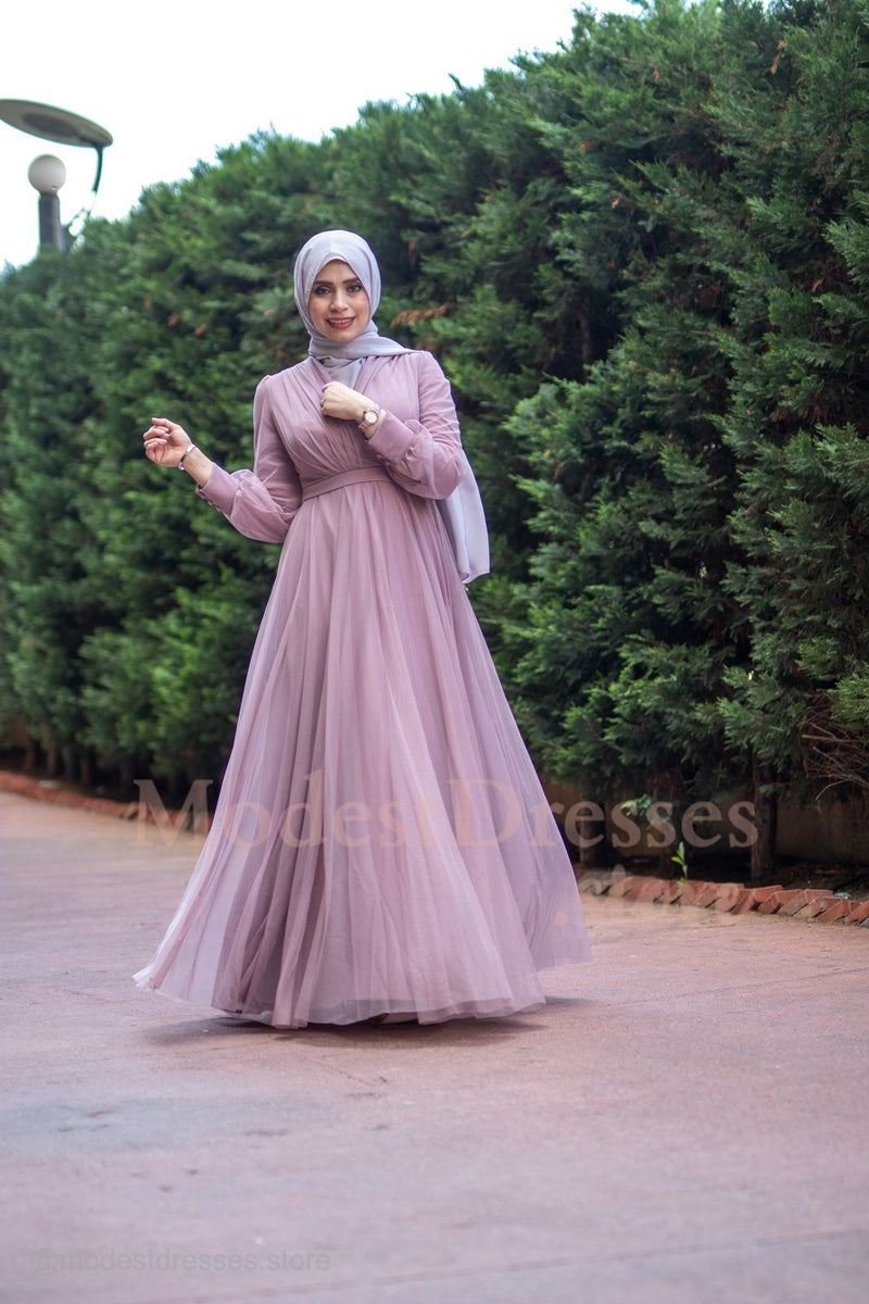 Adorable Princess Pink Modest Dress 2020 - Aynour.com