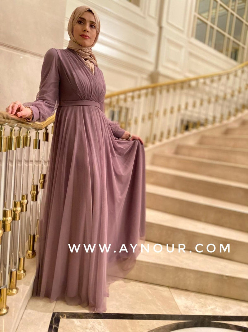 Adorable Princess Rosy rose Modest Dress 2020 - Aynour.com