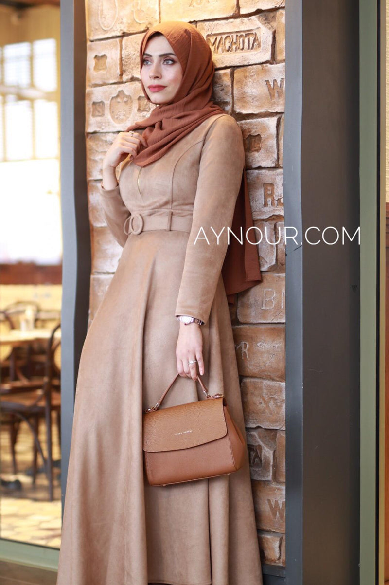 Amazing Classy Winter Collection Modest Dress 2020 - Aynour.com