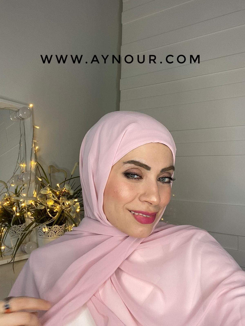 BABY ROSE 2 layers inner cab and scarf Instant Hijab 2021 - Aynour.com