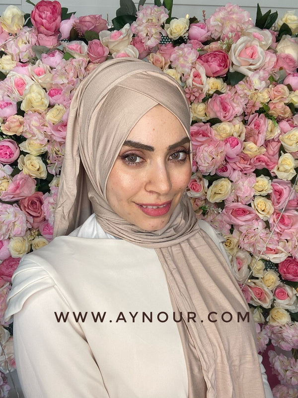 Bieage instant cotton cross luxrious smart no pin scarf Instant Hijab 2021 - Aynour.com