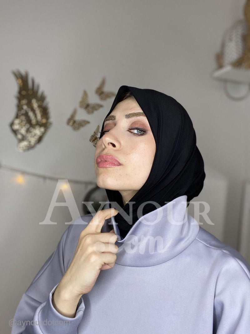 Black Color Best Instant Hijab 2021 - Aynour.com