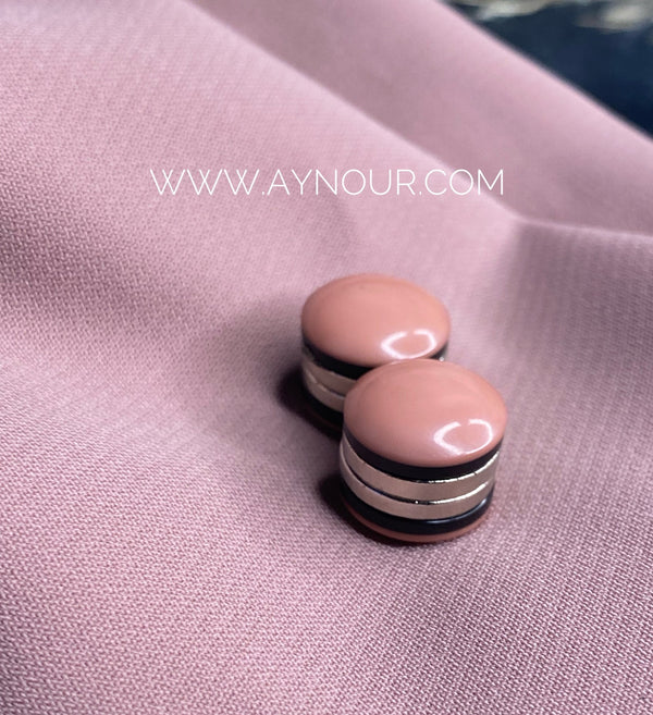 Casual nude Magnetic pin 2 pins luxurious color Hijab 2021 - Aynour.com
