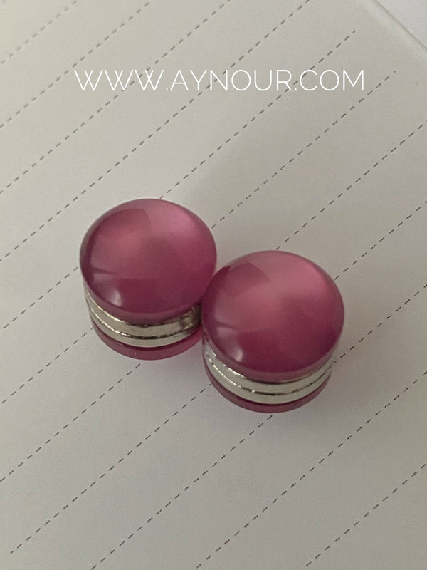 Dark Rose Magnetic pin 2 pins luxurious color Hijab 2021 - Aynour.com
