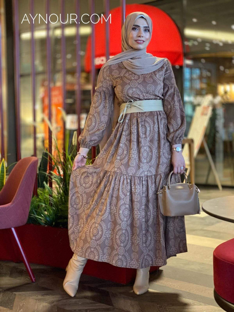 Dreamy Feeling Winter Collection Modest Dress 2020 - Aynour.com