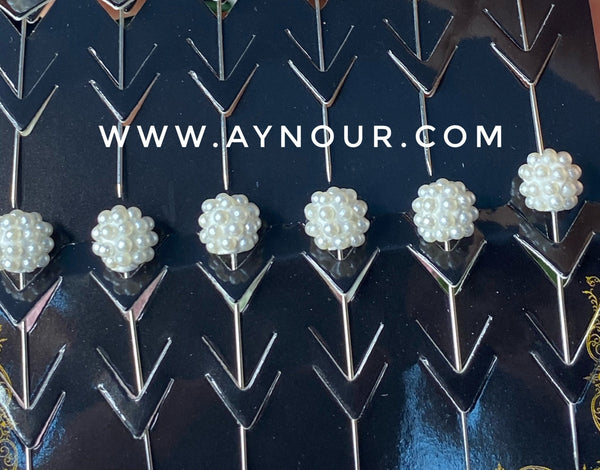 Flower pearl 3 luxurious basic pins - Aynour.com