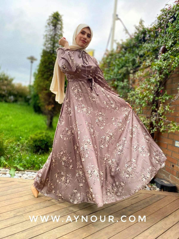 Glory elegant Prints Modest Dress 2020 - Aynour.com