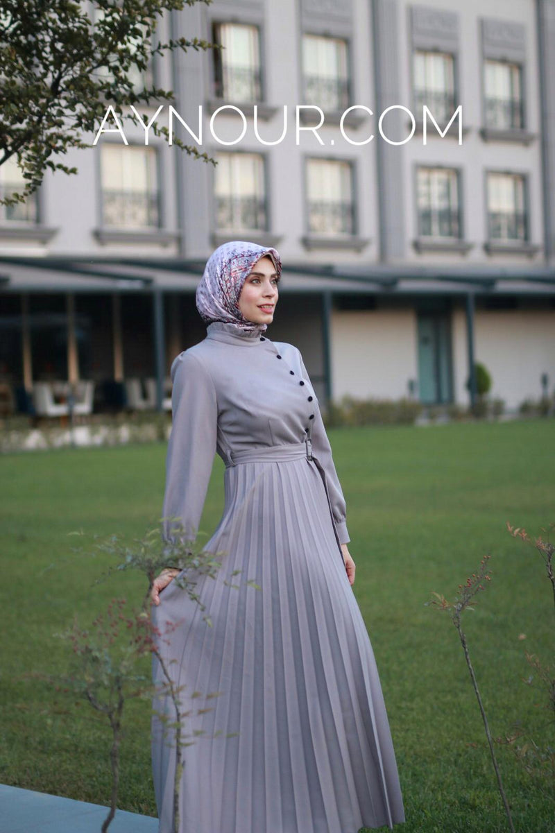 GRAY GLORY Modest Dress 2020 - Aynour.com