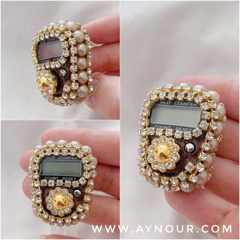 Jewellery Finger Ring brown Electronic Digital Tasbeeh Tasbih Tally Counter pray Islam 2021 - Aynour.com