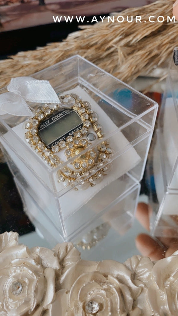Jewellery Finger Ring white Electronic Digital Tasbeeh Tasbih Tally Counter Islam 2021 - Aynour.com