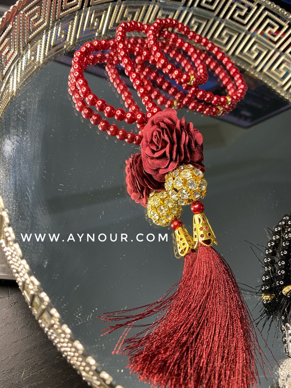 Jewellery red Tasbeeh Tasbih beads pray Islam 2021 - Aynour.com
