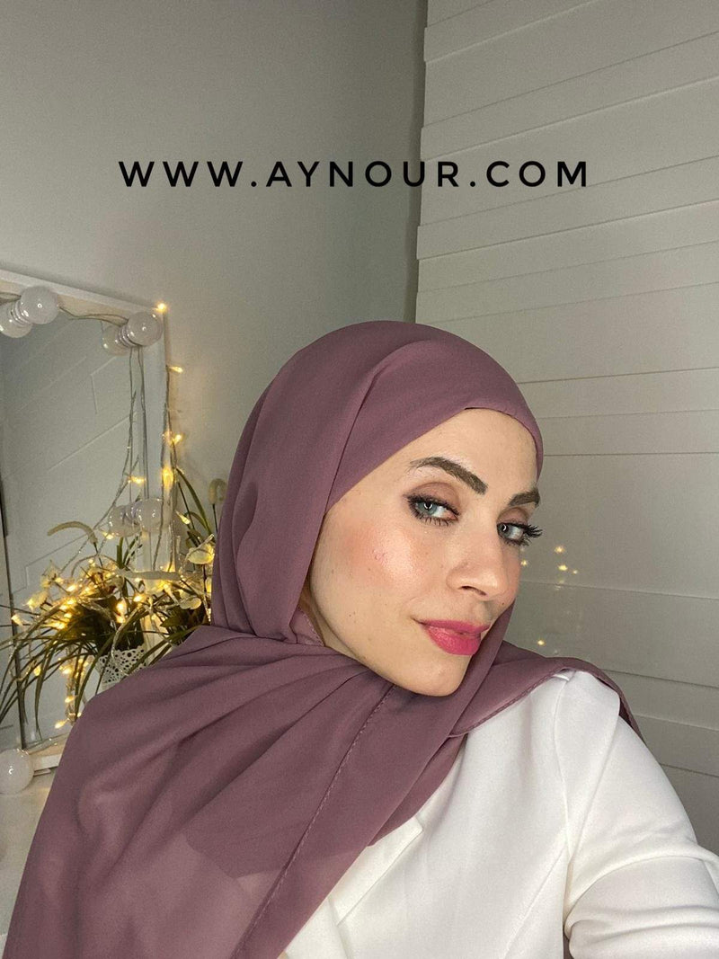 LIGHT PURPLE 2 layers inner cab and scarf Instant Hijab 2021 - Aynour.com