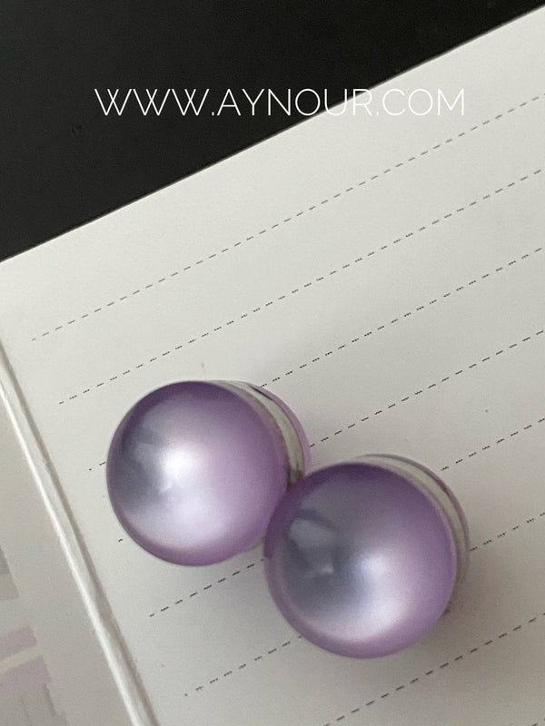 Lilac purple color pin 2 pins luxurious color Hijab 2021 - Aynour.com