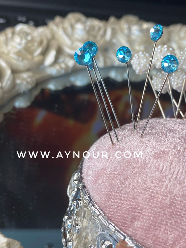 Mint crystals 3 luxurious basic pins - Aynour.com