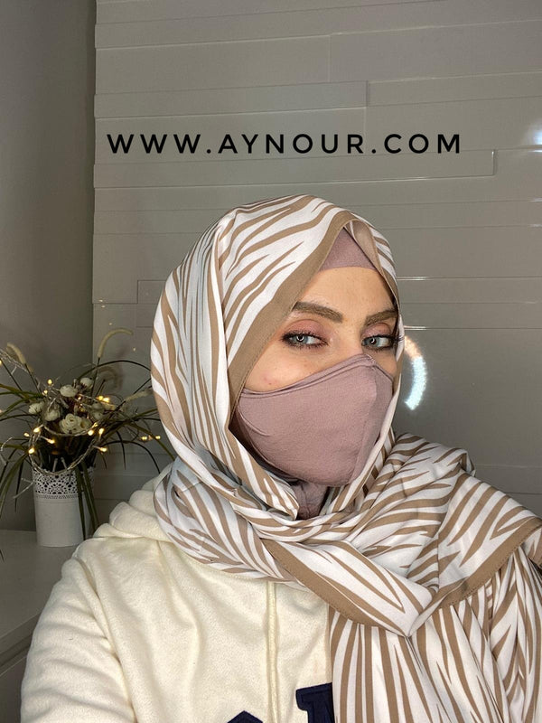 nude rose mask hijab cab cotton Best Instant Hijab 2021 - Aynour.com