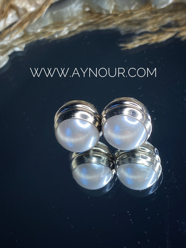Pearls Magnetic pin 2 pins luxurious color Hijab 2021 - Aynour.com