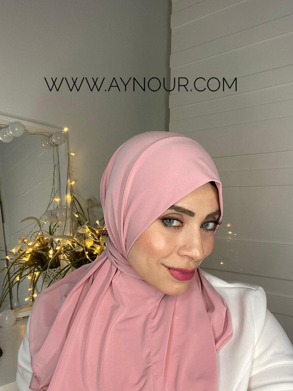 Rose Color Best Instant Hijab 2021 - Aynour.com