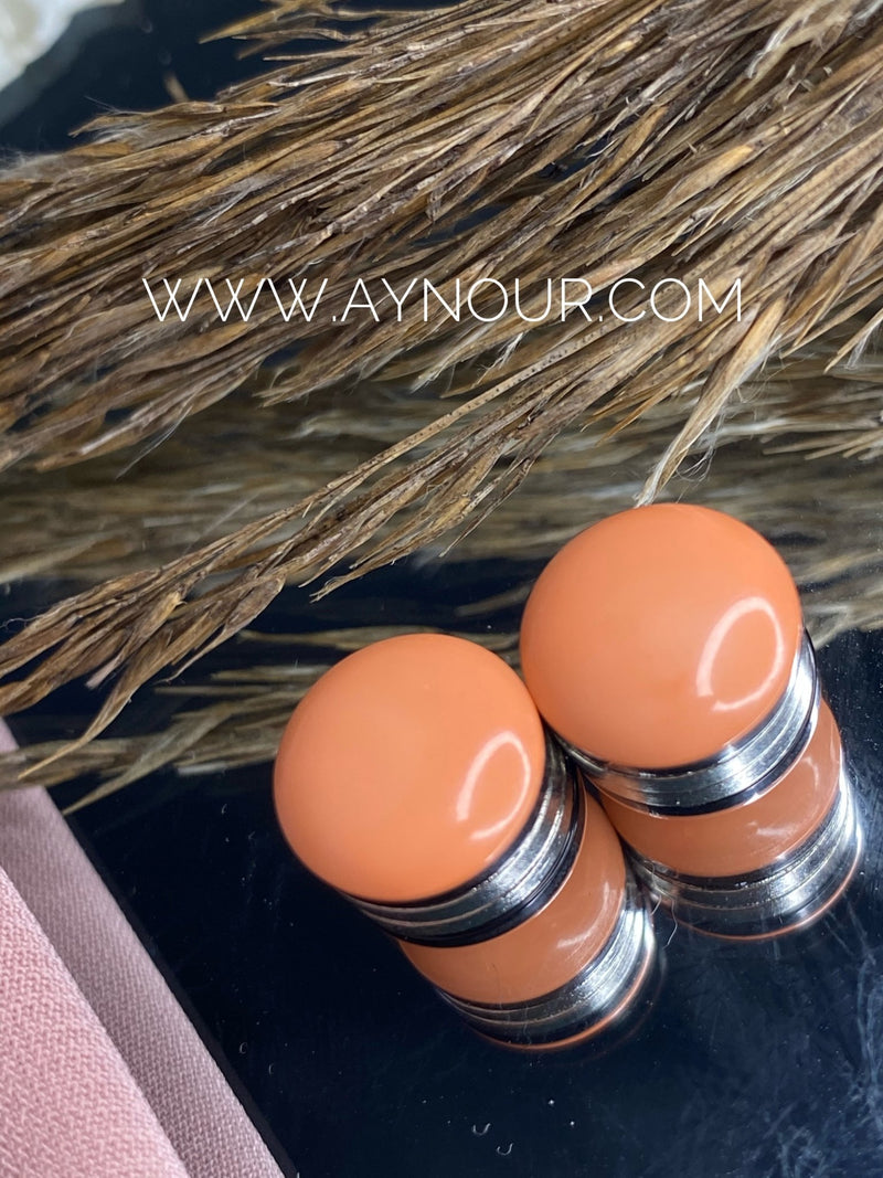 Warm nude casual Magnetic pin 2 pins luxurious color Hijab 2021 - Aynour.com