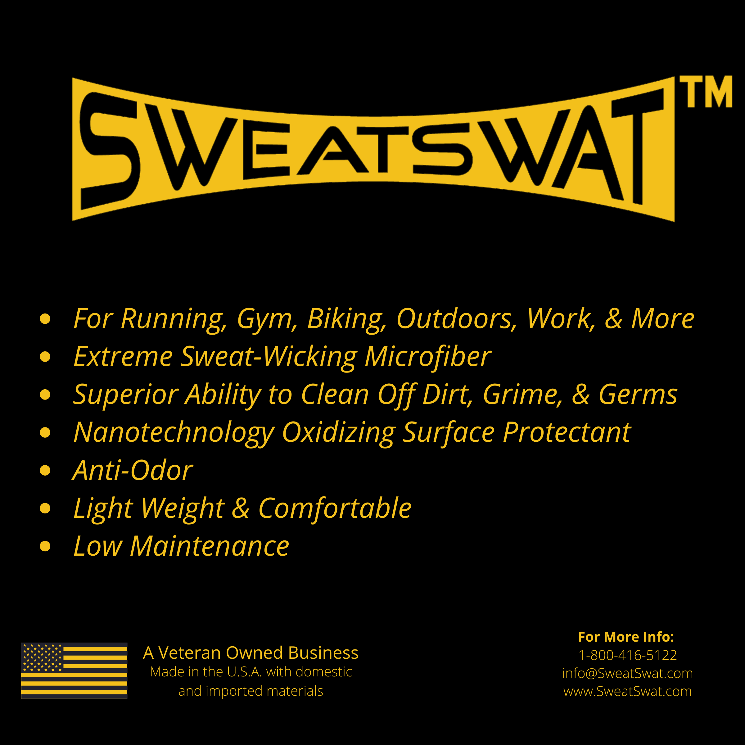 SweatSwat Fistband, The Alpha