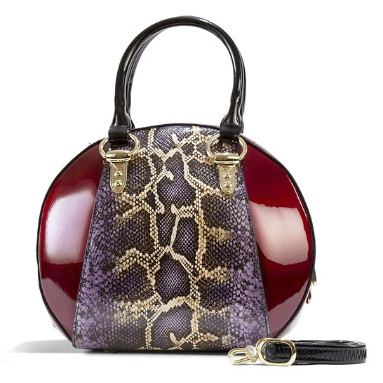 Svetlana Version 2 Python Print (Burgundy)