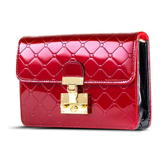 Julia Crossbody Clutch Day & Evening Bag Red