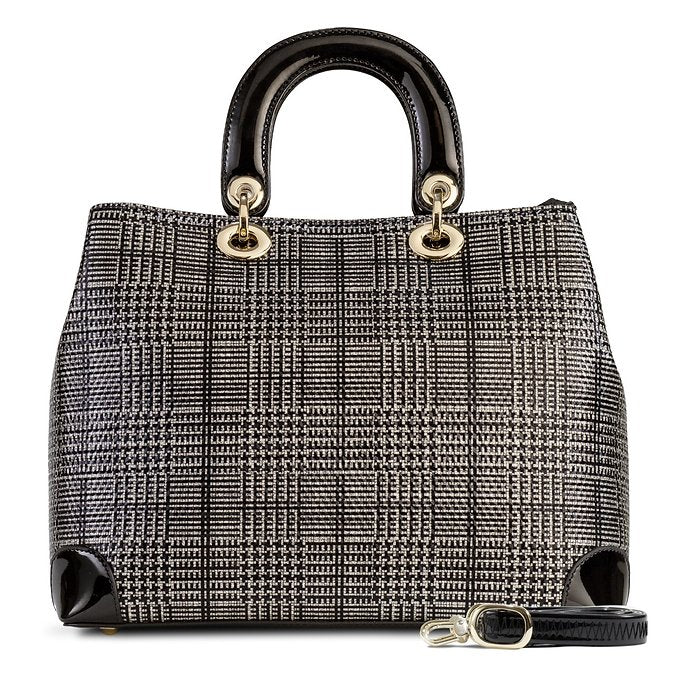 Galina Chanel Tweed Sparkling Black and Silver Print (Large)