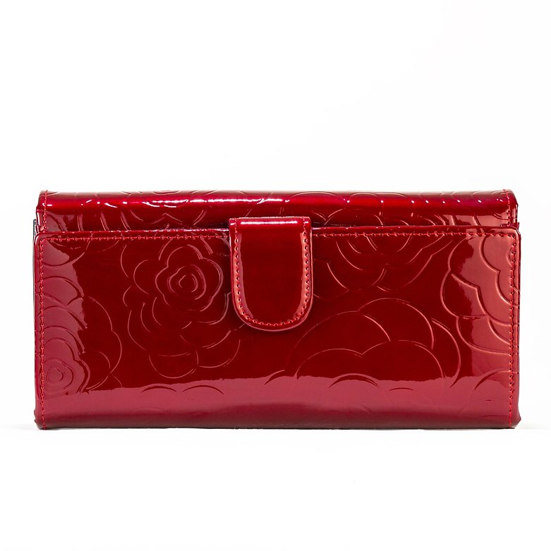 Red Leather Flower Print - Large