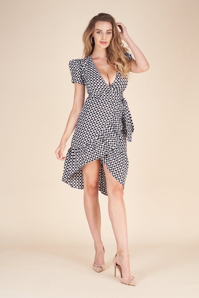 Tabitha Wrap Dress - Milushka.com