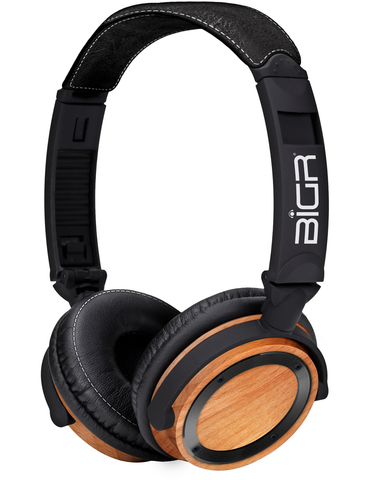 Elements Beechwood w/Black Metal Bezel Headphones