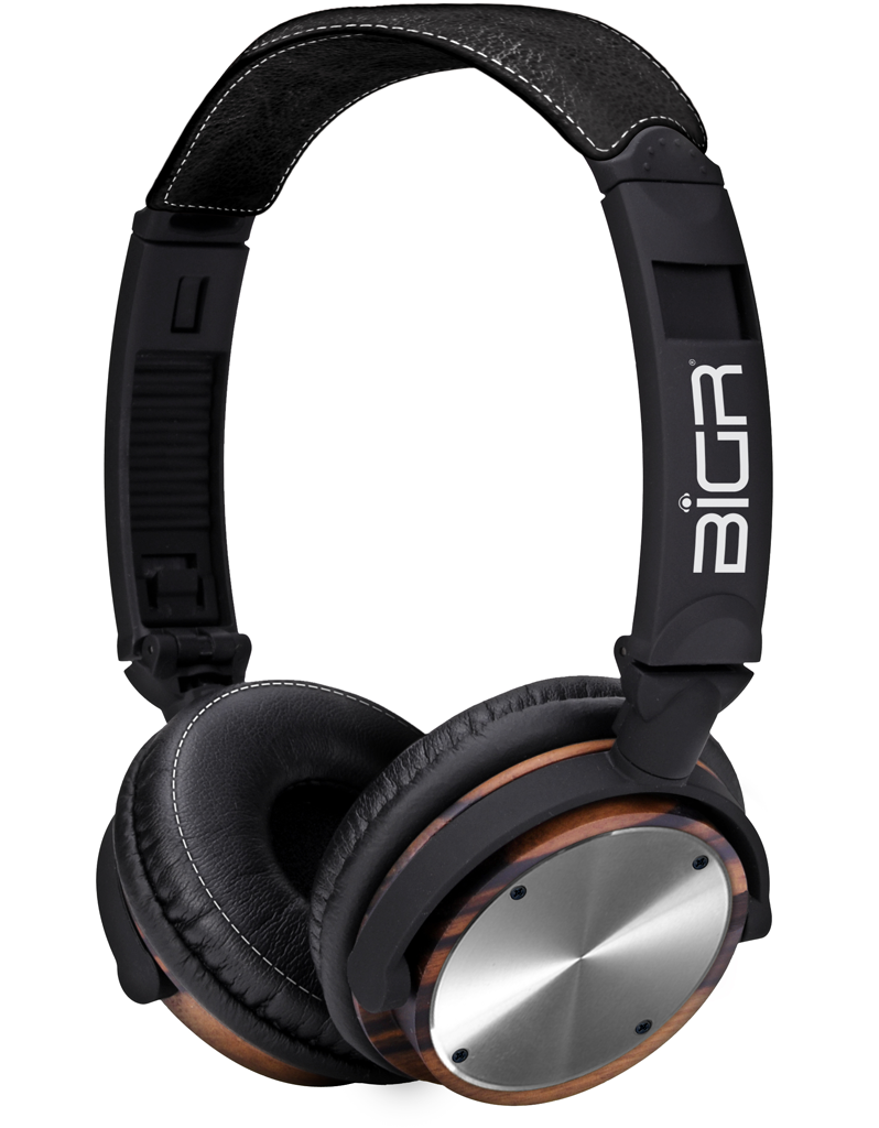 Elements - Rosewood w/Polished Metal Headphones