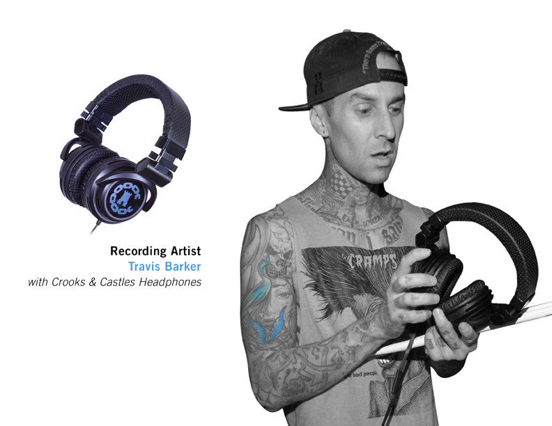 Recording Artist TRAVIS BARKER with Crooks & Castles Headphones