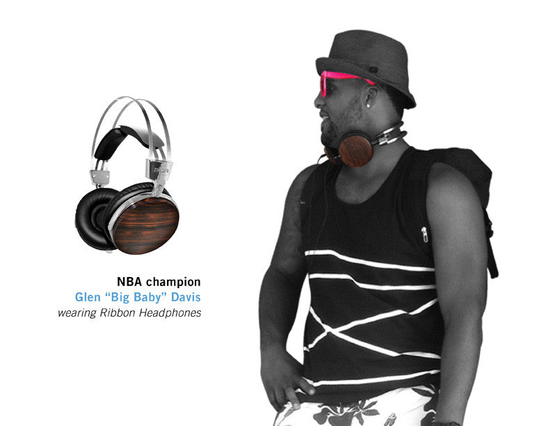 "NBA champion GLEN ""BIG BABY"" DAVIS wearing Ribbon Headphones"