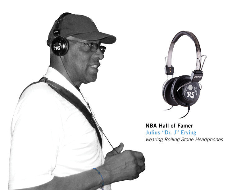 "NBA Hall of Famer JULIUS ""Dr. J"" ERVING wearing Rolling Stone Headphones"