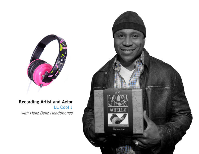 Recording Artist and Actor LL COOL J with Hellz Bellz Headphones