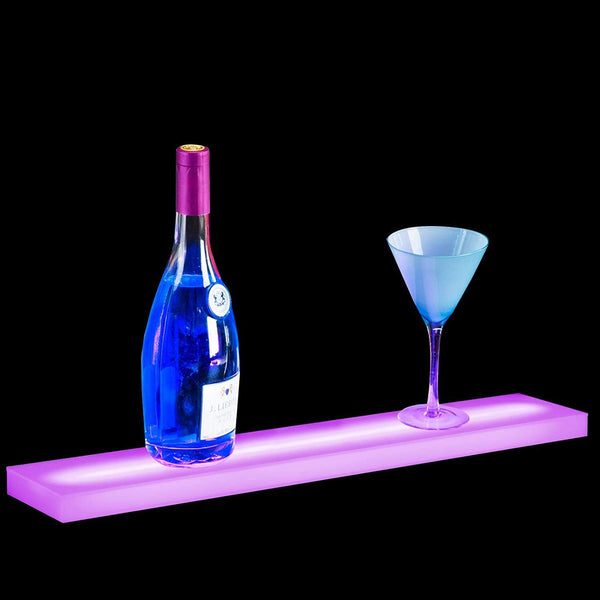 24 Inch LED Lighted Liquor Shelf Bottle Display Rack sale