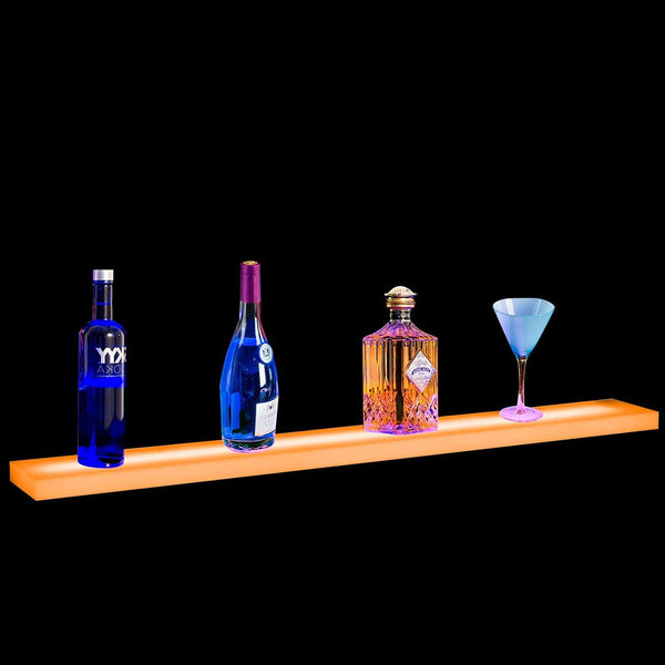 36 Inch Led Bar Shelf Floating Lighted Liquor Bottle Display Shelf